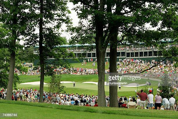 A scenic view of the 14th green as seen during the final round of the Memorial on June 3 2007at Muirfield Village Golf Club in Dublin Ohio
