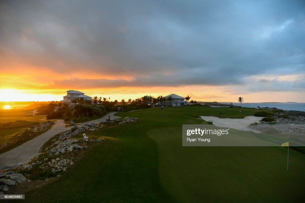 A scenic view of the 14th hole during the first round of the Web.com Tour's The Bahamas Great Exuma Classic at Sandals Emerald Bay - Emerald Reef Course on January 13, 2018 in Great Exuma, Bahamas.