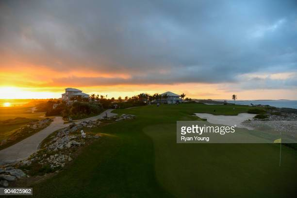 A scenic view of the 14th hole during the first round of the Webcom Tour's The Bahamas Great Exuma Classic at Sandals Emerald Bay Emerald Reef Course...