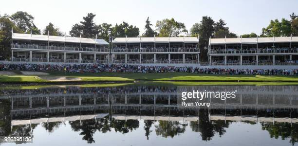 A scenic view of the 17th hole during round three of the World Golf ChampionshipsMexico Championship at Club de Golf Chapultepec on March 3 2018 in...