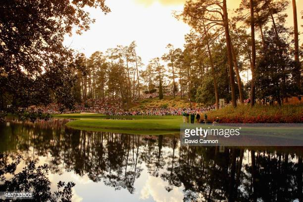 A scenic view of the 2014 Par 3 course is seen prior to the start of the 2014 Masters Tournament at Augusta National Golf Club on April 9 2014 in...