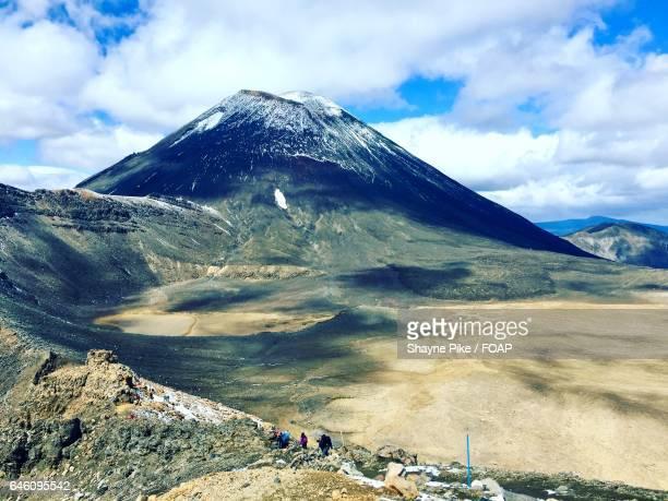 Scenic view of the alpine tongariro crossing