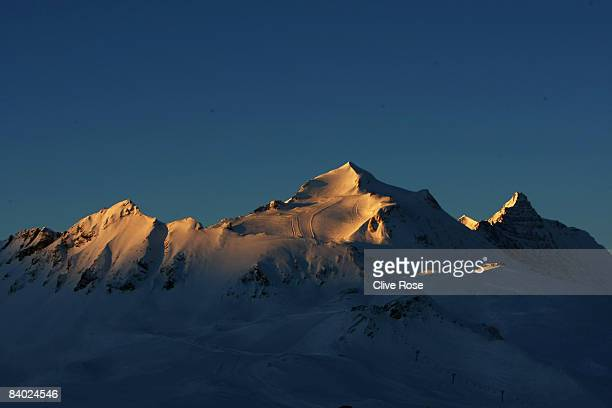 A scenic view of the Alps prior to the Mens Giant Slalom at the FIS Skiing World Cup on December 13 2008 in Vald'Isere France