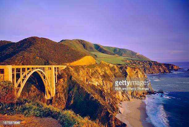 Scenic view of the Bixby Bridge on the California coastline