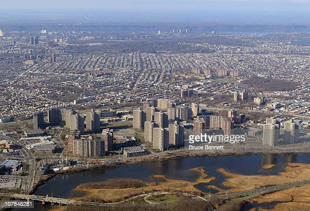 Scenic view of the Bronx photographed from an airplane on December 8, 2010 in New York City.