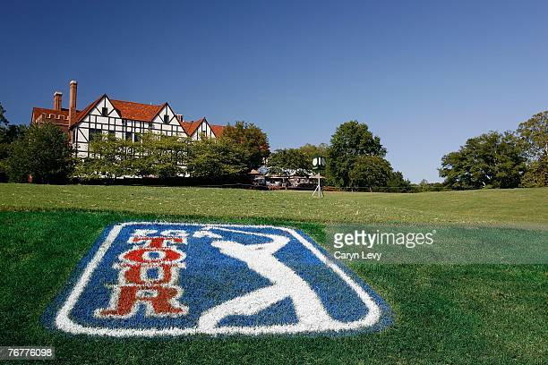 Scenic view of the clubhouse during the third round of THE TOUR Championship, the final event of the new PGA TOUR Playoffs for the FedExCup, on...