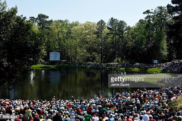 A scenic view of the course during the Par 3 Contest prior to the 2009 Masters Tournament at Augusta National Golf Club on April 8 2009 in Augusta...