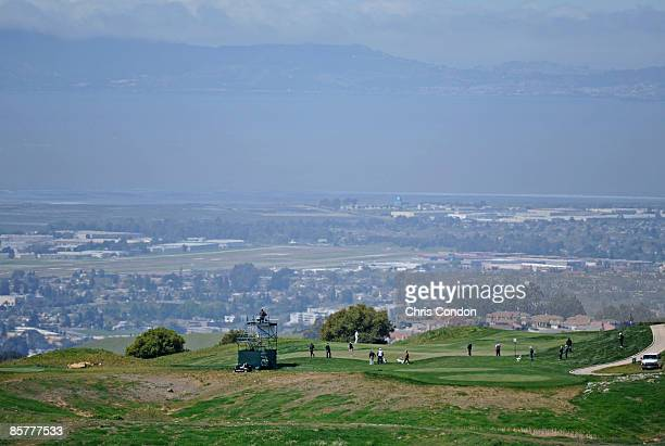 A scenic view of the east bay during the first round of the Stonebrae Classic held at TPC San Francisco Bay at Stonebrae on April 2 2009 in Hayward...