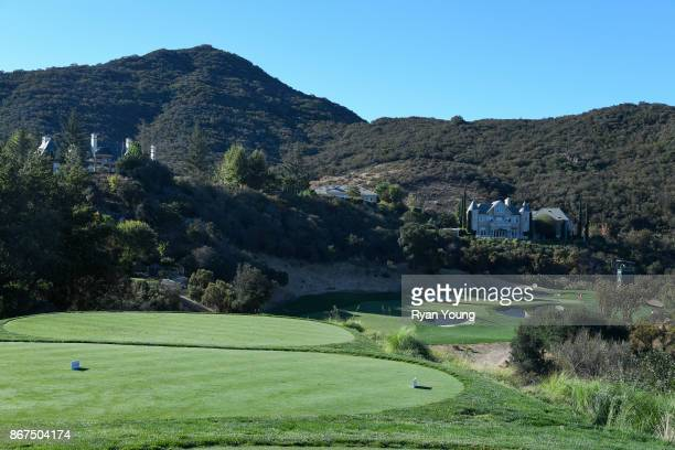 Scenic view of the eighth hole during the second round of the PGA TOUR Champions PowerShares QQQ Championship at Sherwood Country Club on October 28,...