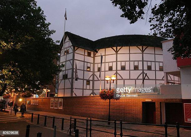A scenic view of the Globe Theatre photographed on August 18 2007 in London England