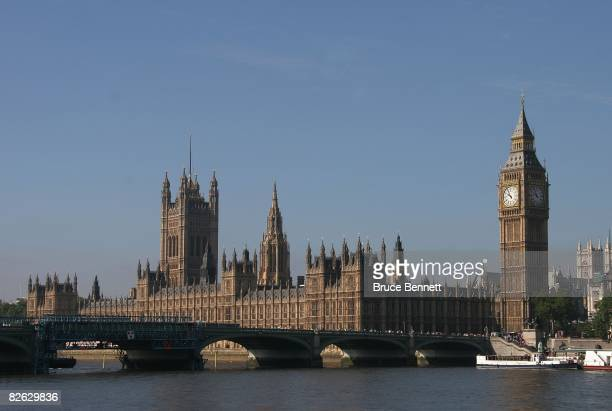 A scenic view of the Houses of Parliament and Big Ben photographed on August 18 2007 in London England