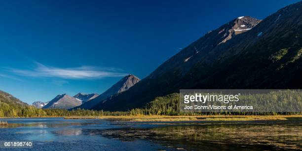 Scenic View Of The Kenai Mountains Reflected In Tern Lake During Fall On The Kenai Peninsula In South central Alaska