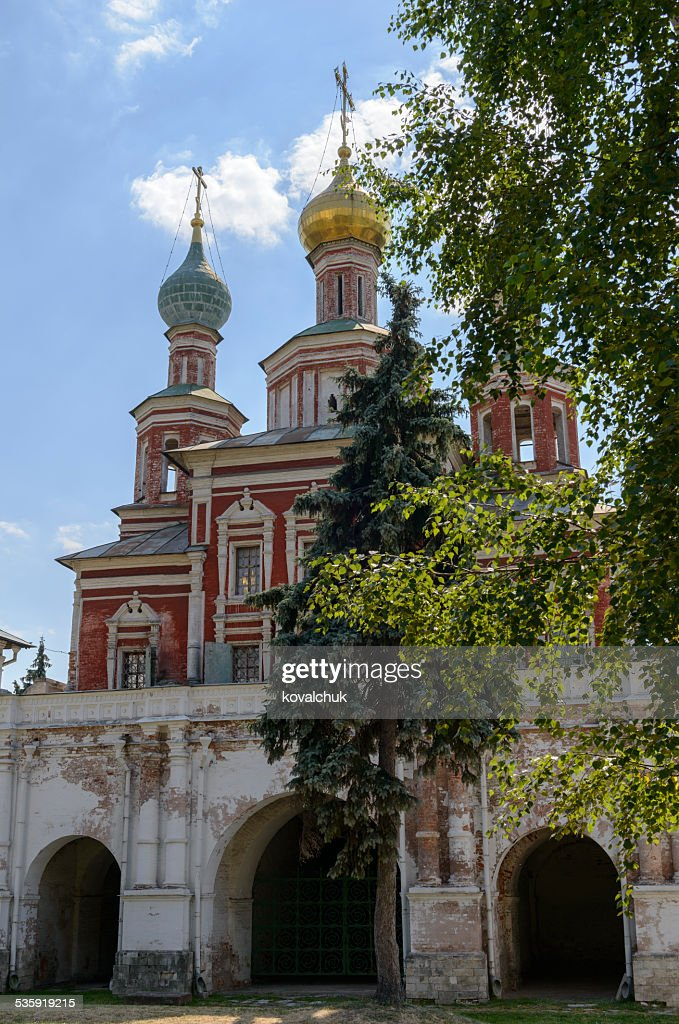 scenic view of the Moscow Novodevichy Convent : Stock Photo