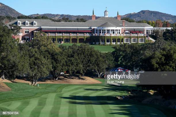 Scenic view of the ninth hole during the second round of the PGA TOUR Champions PowerShares QQQ Championship at Sherwood Country Club on October 28,...