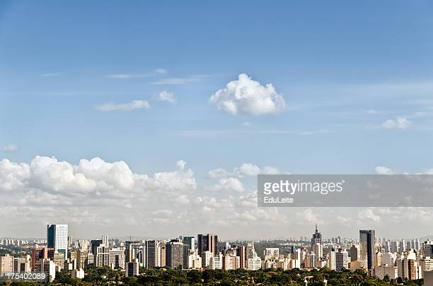 scenic view of the paolo skyline - são paulo city stock pictures, royalty-free photos & images