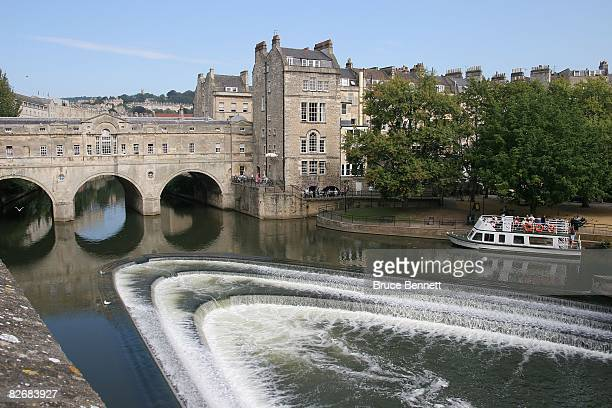 A scenic view of the River Avon photographed on August 24 2007 in Bath England