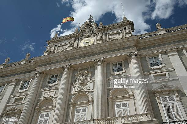 A scenic view of the Royal Palace in Madrid Spain on July 29 2009