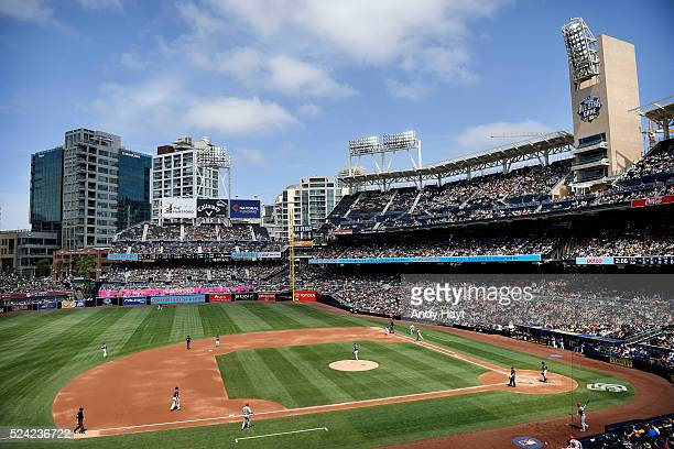 Scenic view of the San Diego Padres game in the third inning against the St Louis Cardinals at Petco Park on April 24 2016 in San Diego California