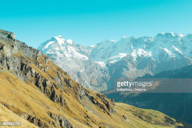 Scenic View of the Snow-covered Alps, Swiss