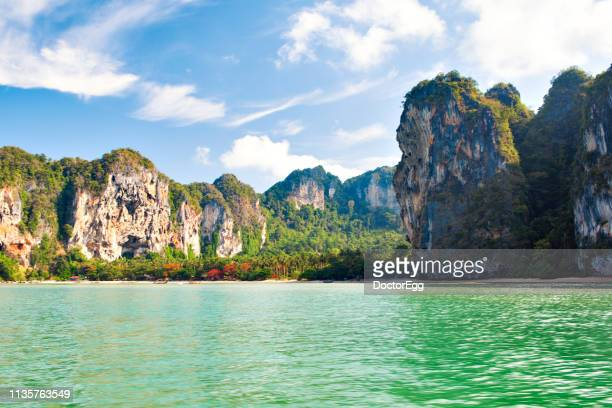 Scenic View of Tonsai Beach on Sunny Day in Summer, Krabi Province,Thailand
