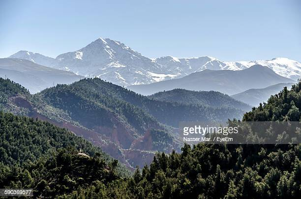 Scenic View Of Toubkal Mountains Against Sky