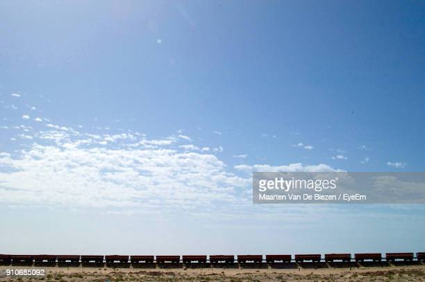 Scenic View Of Train Against Sky