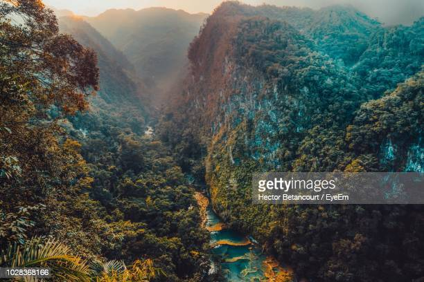 scenic view of valley - guatemala stock pictures, royalty-free photos & images