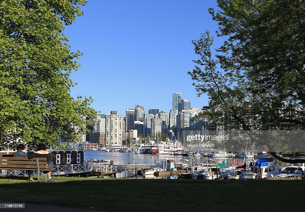 A scenic view of Vancouver from Stanley Park photographed on June 3, 2011 in Vancouver, Britich Columbia, Canada.