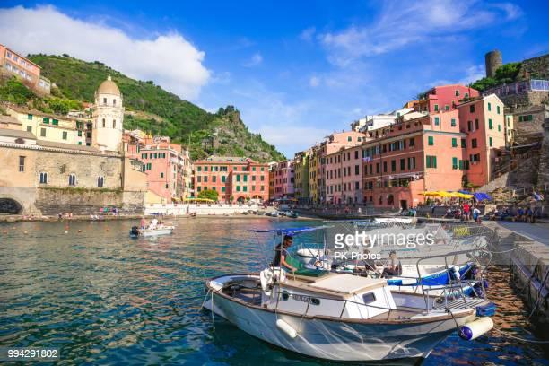 Scenic View of Vernazza Village, Cinque Terre, Liguria, Italy