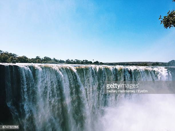 Scenic View Of Victoria Falls Against Sky