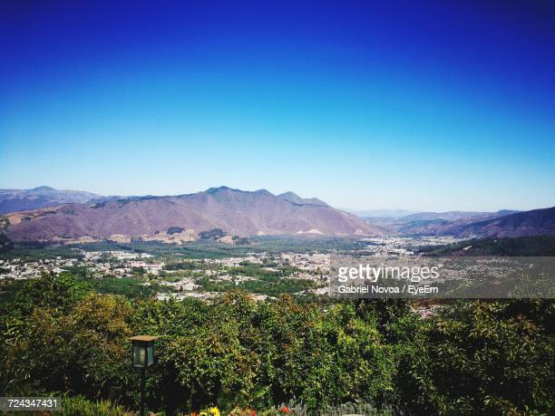 scenic view of vineyard against clear blue sky - guatemala city stock pictures, royalty-free photos & images