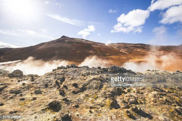 scenic view of volcanic landscape against sky - cuomo stock pictures, royalty-free photos & images