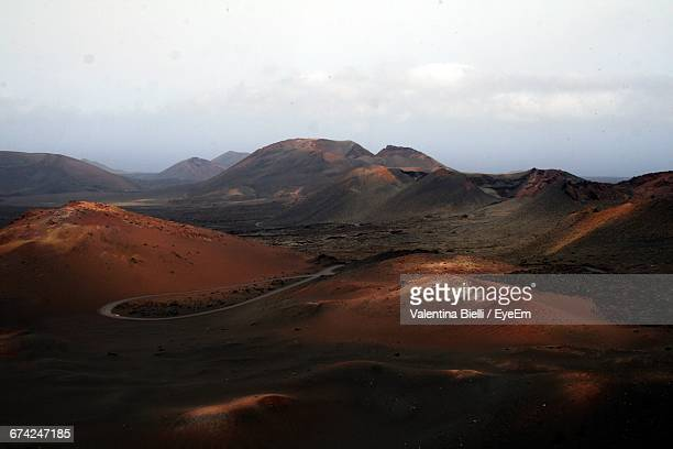 Scenic View Of Volcanic Landscape At Timanfaya National Park