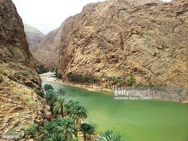 Scenic View Of Wadi Shab