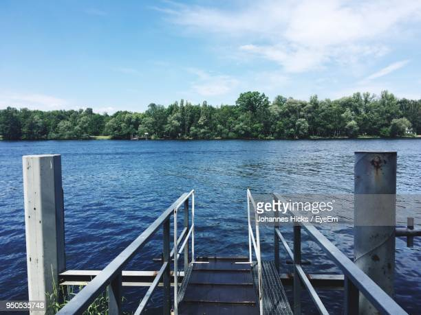Scenic View Of Water Against Sky
