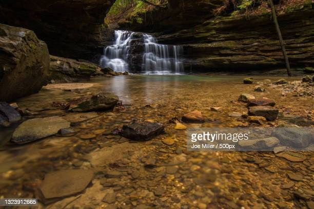scenic view of waterfall in forest,houston,alabama,united states,usa - nature stock pictures, royalty-free photos & images