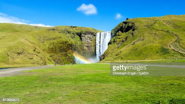 Scenic View Of Waterfall In Iceland