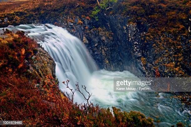 scenic view of waterfall - karen mckay stock pictures, royalty-free photos & images