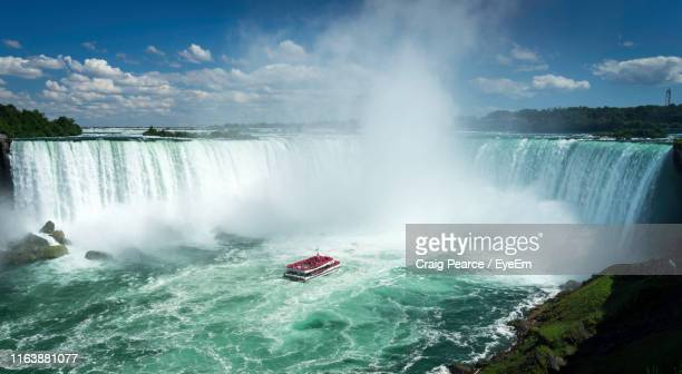 scenic view of waterfall - niagara falls stock pictures, royalty-free photos & images