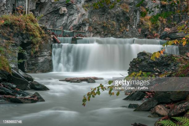 scenic view of waterfall - bad ragaz stock pictures, royalty-free photos & images