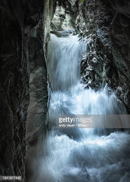 scenic view of waterfall - andy dauer stock pictures, royalty-free photos & images