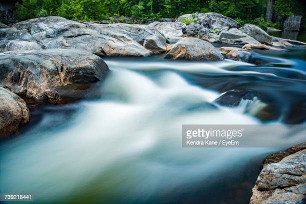 scenic view of waterfall - manchester new hampshire stock pictures, royalty-free photos & images