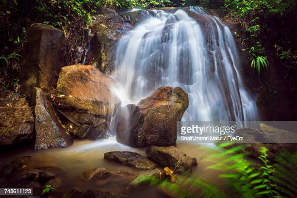 scenic view of waterfall - shaifulzamri eyeem stock pictures, royalty-free photos & images