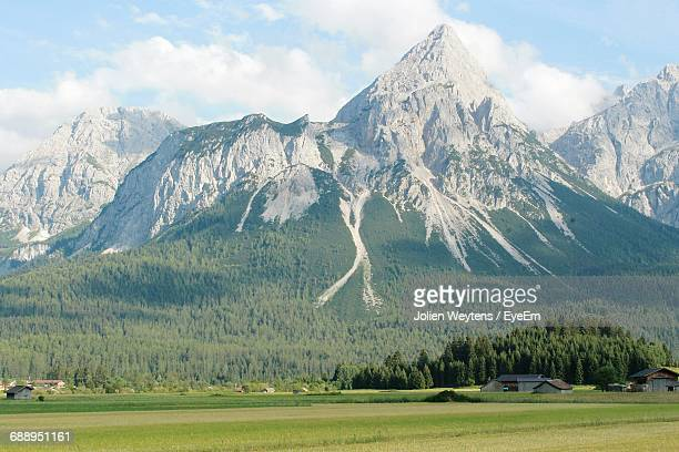 Scenic View Of Zugspitze Mountain Against Sky