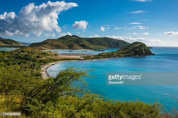 scenic view over south peninsula of st. kitts, st. kitts and nevis, caribbean - シント・ユースタティウス島 ストックフォトと画像