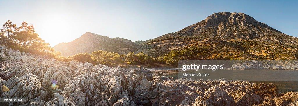 Scenic view, Pagondas, Samos, Greece : Stock Photo