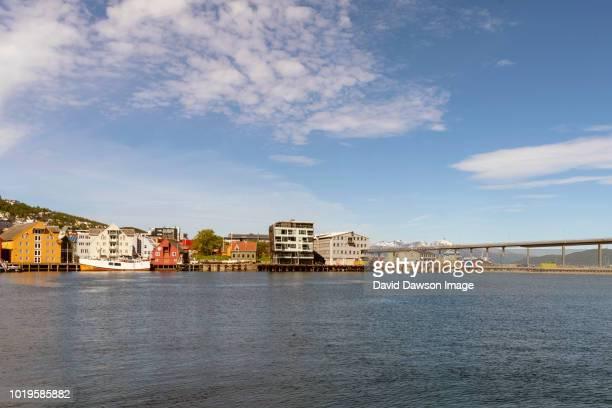 scenic view tromsø, norway - wispy stock photos and pictures