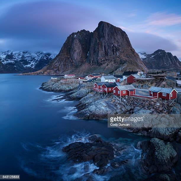 Scenic village of Hamnoy, near Reine, Moskenesoy, Lofoten Islands, Norway