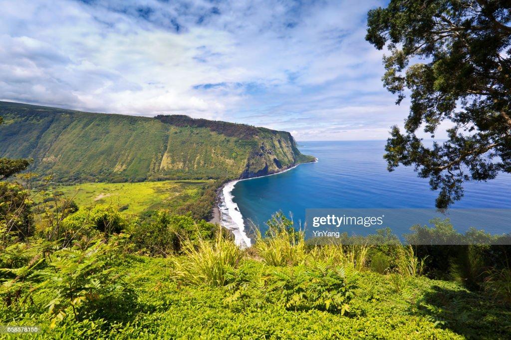 Scenic Waipi'o Valley, Big Island, Hawaii : Stock Photo