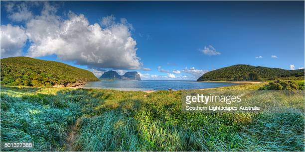 Scenically beautiful and a world heritage designated location, Lord Howe Island lies between the South Pacific ocean and the Tasman sea off the coast of New South Wales, Australia.